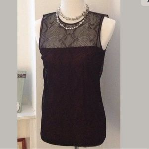 Authentic GUCCI Black Brown Lace Blouse Top - 40